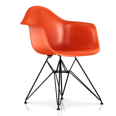 DFAR47114E8: Customized Item of Eames Molded Fiberglass Armchair, Wire Base by Herman Miller (DFAR)
