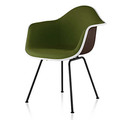 Picture of Eames Upholstered Molded Fiberglass Armchair with 4-Leg Base by Herman Miller