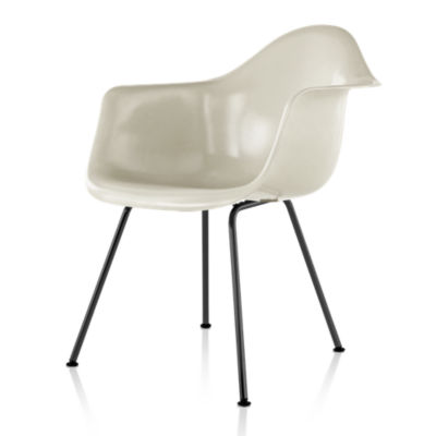 DFAXBK111E8: Customized Item of Eames Molded Fiberglass Armchair, 4-Leg Base by Herman Miller (DFAX)