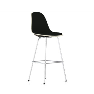 Picture of Eames Molded Fiberglass Upholstered Bar Stool by Herman Miller