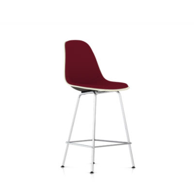 Picture of Eames Molded Fiberglass Upholstered Counter Stool by Herman Miller