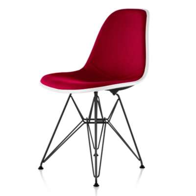 Picture for Eames Upholstered Molded Fiberglass Side Chair with Wire Base by Herman Miller