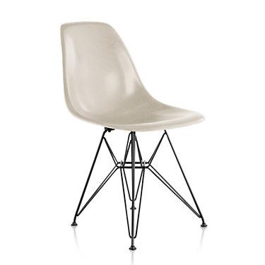 DFSRBK111E8: Customized Item of Eames Molded Fiberglass Side Chair, Wire Base by Herman Miller (DFSR)