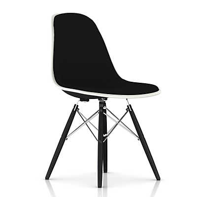 Picture of Eames Upholstered Molded Fiberglass Side Chair with Dowel Leg Base by Herman Miller