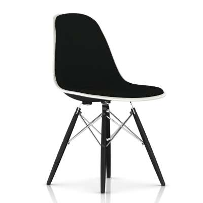 Picture for Eames Upholstered Molded Fiberglass Side Chair with Dowel Leg Base by Herman Miller