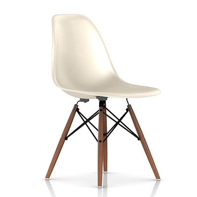 eames molded fiberglass side chair dowel leg base smart furniture