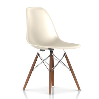 DFSWBKOU111E8: Customized Item of Eames Molded Fiberglass Side Chair, Dowel Leg Base by Herman Miller (DFSW)