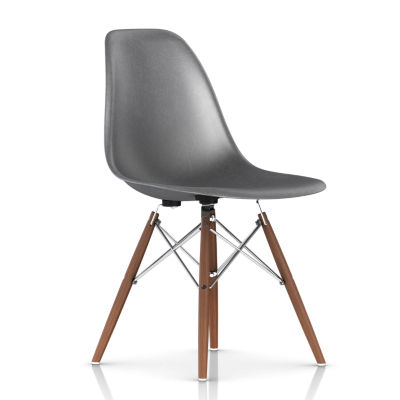 DFSWBKOU112E8: Customized Item of Eames Molded Fiberglass Side Chair, Dowel Leg Base by Herman Miller (DFSW)