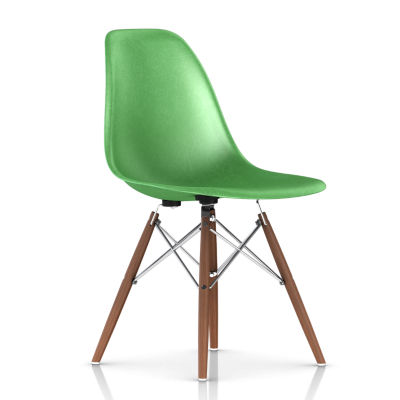 DFSWBKUL116E8: Customized Item of Eames Molded Fiberglass Side Chair, Dowel Leg Base by Herman Miller (DFSW)