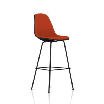 Picture for Eames Molded Plastic Upholstered Bar Stool by Herman Miller