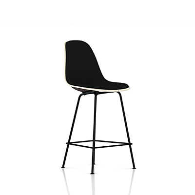 Eames Molded Plastic Upholstered Counter Stool