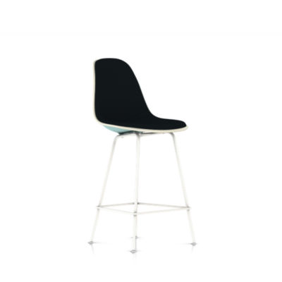 Picture of Eames Molded Plastic Upholstered Counter Stool by Herman Miller