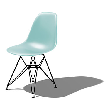 DSR91BLEE9: Customized Item of Eames Molded Plastic Side Chair with Eiffel Tower Base by Herman Miller (DSR)