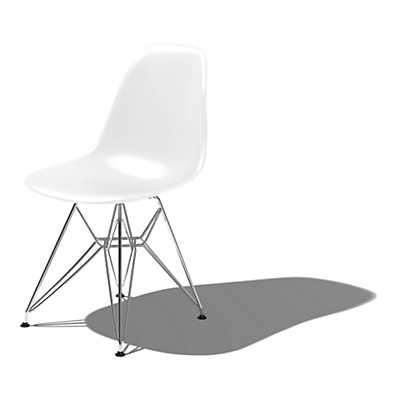 Eames Molded Plastic Side Chair With Eiffel Tower Base By Herman Miller Sma