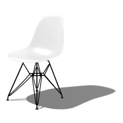 DSR91ZFE8: Customized Item of Eames Molded Plastic Side Chair with Eiffel Tower Base by Herman Miller (DSR)