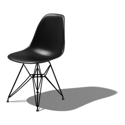 DSR47ZAE8: Customized Item of Eames Molded Plastic Side Chair with Eiffel Tower Base by Herman Miller (DSR)