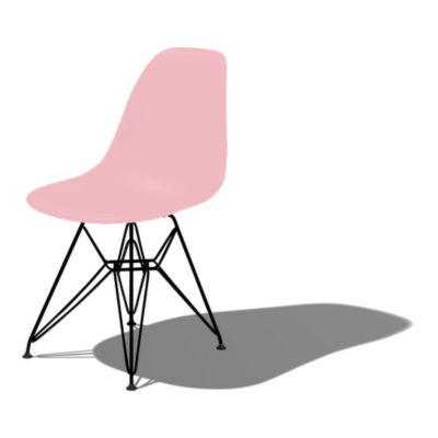 DSR47BLHE9: Customized Item of Eames Molded Plastic Side Chair with Eiffel Tower Base by Herman Miller (DSR)