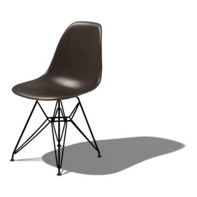 DSRBK5BE8: Customized Item of Eames Molded Plastic Side Chair with Eiffel Tower Base by Herman Miller (DSR)