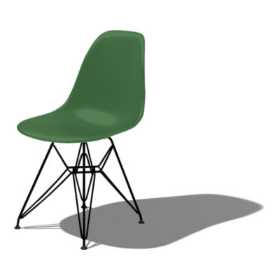 DSR91KGRE9: Customized Item of Eames Molded Plastic Side Chair with Eiffel Tower Base by Herman Miller (DSR)