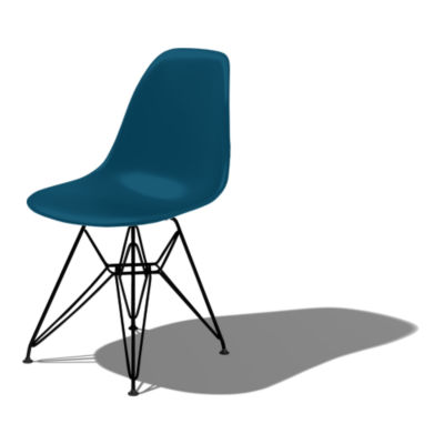 DSR47PBLE8: Customized Item of Eames Molded Plastic Side Chair with Eiffel Tower Base by Herman Miller (DSR)