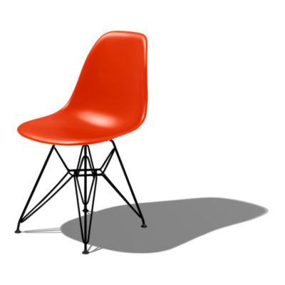DSR47ZEE8: Customized Item of Eames Molded Plastic Side Chair with Eiffel Tower Base by Herman Miller (DSR)