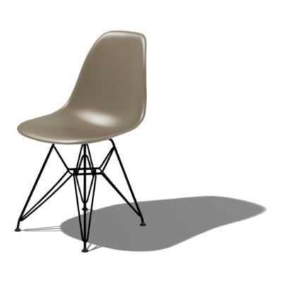 DSRBK9JE9: Customized Item of Eames Molded Plastic Side Chair with Eiffel Tower Base by Herman Miller (DSR)