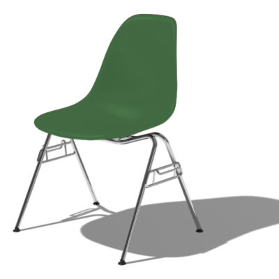 DSSNCHE847KGRE8: Customized Item of Eames Molded Plastic Side Chair by Herman Miller (DSSNCHE8)