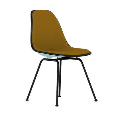 Picture of Eames Upholstered Molded Plastic Side Chair with 4-Leg Base by Herman Miller