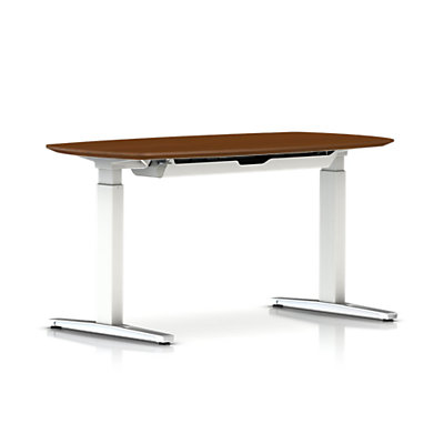 Renew Sit-to-Stand Oval Table with T-Foot