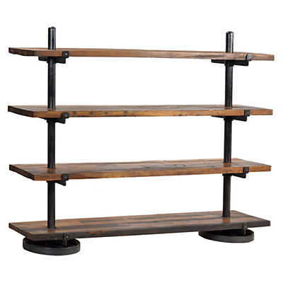 Picture of Industrial Steel Rack with Wood Shelf by Dovetail