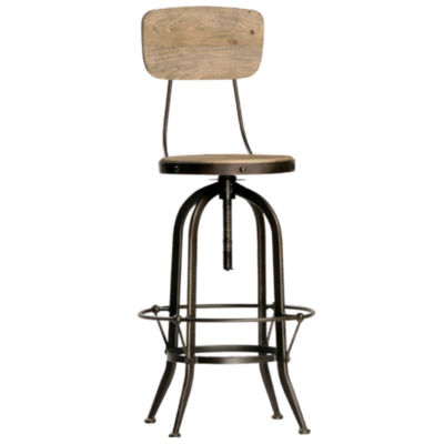 Picture of Ford Bar Stool with Back by Dovetail