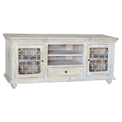 Picture of Santa Fe White TV Stand by Dovetail