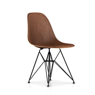 DWSRBKOUE8: Customized Item of Eames Molded Wood Side Chair with Wire Base by Herman Miller (DWSR)