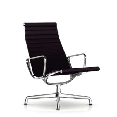 Picture for Eames Aluminum Lounge Chair by Herman Miller, Fabric