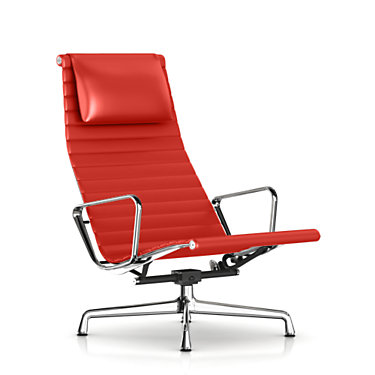 EA322L1R01: Customized Item of Eames Aluminum Lounge Chair with Headrest by Herman Miller (EA322)