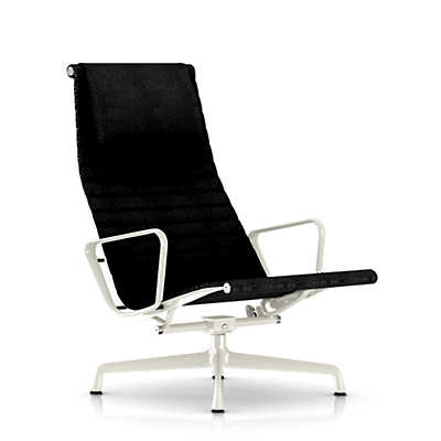 Picture of Eames Aluminum Lounge Chair with Headrest by Herman Miller, Fabric