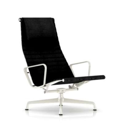 Picture for Eames Aluminum Lounge Chair with Headrest by Herman Miller, Fabric