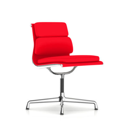 Picture of Eames Soft Pad Armless Side Chair, Fabric by Herman Miller