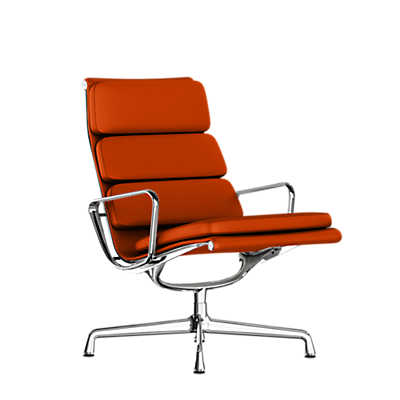 Eames Soft Pad Lounge Chair eames soft pad lounge chair, swivel base | smart furniture