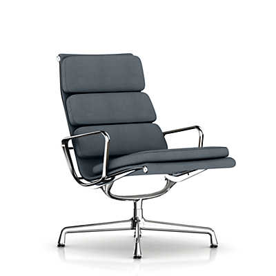 Picture of Eames Soft Pad Lounge Chair by Herman Miller, Swivel Base, Fabric