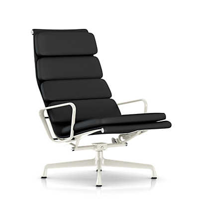 Eames Soft Pad Lounge Chair eames soft pad lounge chair, tilt & swivel base | smart furniture