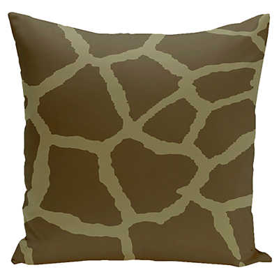 Giraffe Decorative Pillow : Giraffe Print Decorative Pillow in Sage Smart Furniture