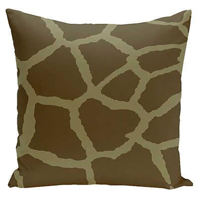 Giraffe Print Decorative Pillow in Sage Smart Furniture