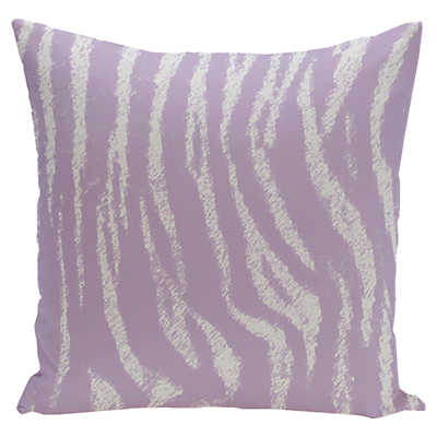 Decorative Pillow Lilac : Zebra Print Decorative Pillow in Lilac Purple Smart Furniture