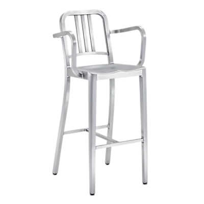 Picture of Navy Barstool with Arms