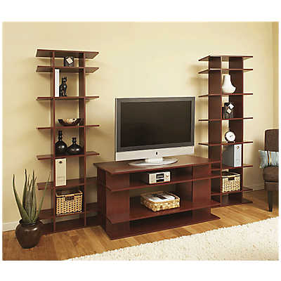 "Picture of 8' Wide Media System with 24"" Deep Console by Smart Furniture"
