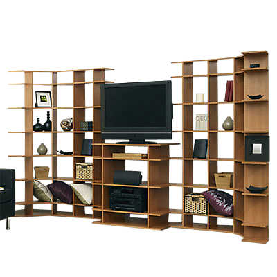"Picture of 11' Wide Media System with 19"" Deep Console by Smart Furniture"