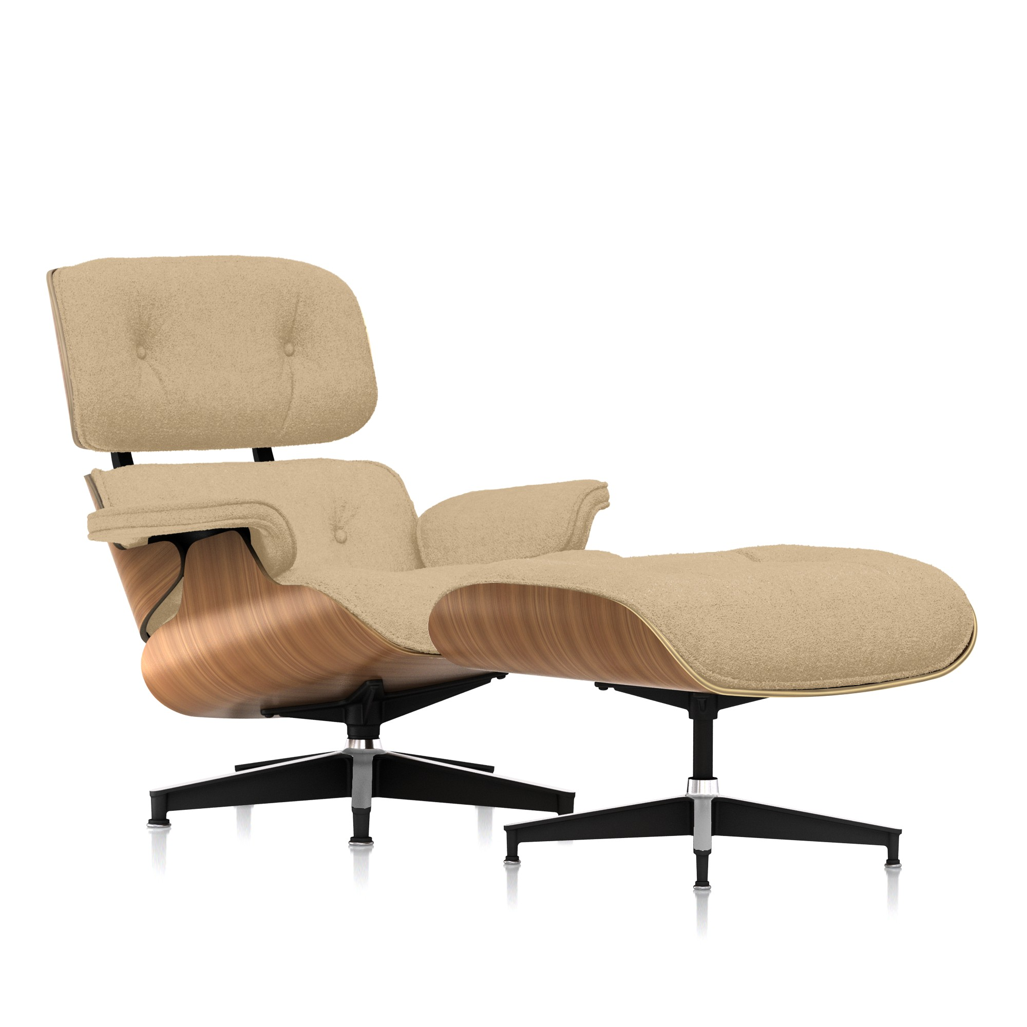 Eames Chair With Ottoman Eames Lounge Chair And Ottoman Premium Mohair By Herman Miller