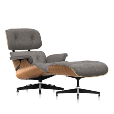ES67071MO-OU-ZMS18: Customized Item of Eames Lounge Chair and Ottoman, Premium Mohair by Herman Miller (ES67071MO)