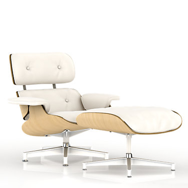 ES67071RE1R02WO: Customized Item of Eames Lounge Chair, White Ash by Herman Miller (ES67071RE)